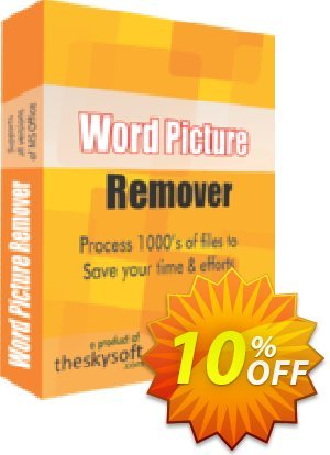 TheSkySoft Word Picture Remover Coupon, discount 10%Discount. Promotion: wondrous deals code of Word Picture Remover 2020
