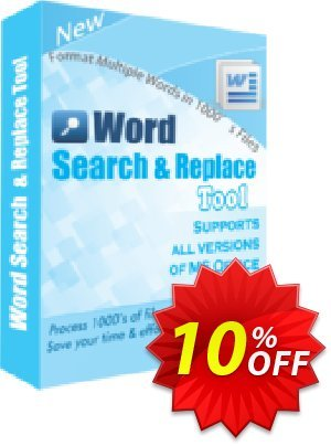 TheSkySoft Word Search and Replace Tool Coupon discount 10%Discount. Promotion: awful offer code of Word Search and Replace Tool 2020