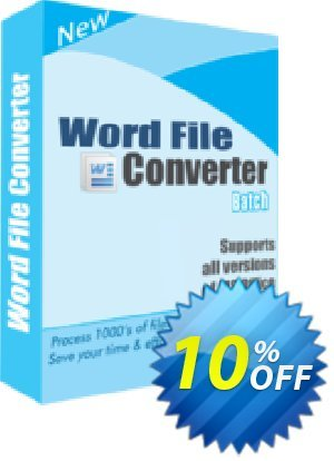 TheSkySoft Word File Converter Batch Coupon, discount 10%Discount. Promotion: amazing promotions code of Word File Converter Batch 2020