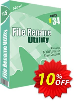TheSkySoft File Rename Utility Coupon, discount 10%Discount. Promotion: marvelous offer code of File Rename Utility 2021