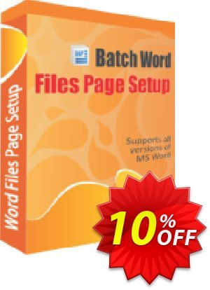 TheSkySoft Batch Word Files Page Setup Coupon, discount 10%Discount. Promotion: big sales code of Batch Word Files Page Setup 2021