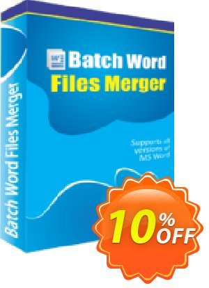 Batch Word Files Merger 優惠券,折扣碼 10%Discount,促銷代碼: awesome discount code of Batch Word Files Merger 2019