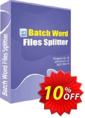 TheSkySoft Batch Word Files Splitter Coupon, discount 10%Discount. Promotion: impressive offer code of Batch Word Files Splitter 2021