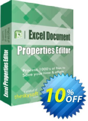 TheSkySoft Excel Document Properties Editor Coupon, discount 10%Discount. Promotion: wondrous promo code of Excel Document Properties Editor 2020