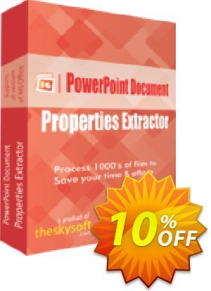 TheSkySoft PowerPoint Document Properties Extractor Coupon, discount 10%Discount. Promotion: big offer code of PowerPoint Document Properties Extractor 2020