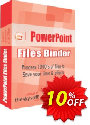 TheSkySoft PowerPoint Files Binder Coupon, discount 10%Discount. Promotion: big offer code of PowerPoint Files Binder 2021
