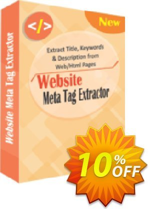 TheSkySoft Website Meta Tag Extractor Coupon, discount 10%Discount. Promotion: stirring discount code of Website Meta Tag Extractor 2021