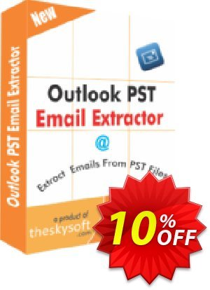 TheSkySoft Outlook PST Email Extractor Coupon, discount 10%Discount. Promotion: imposing promotions code of Outlook PST Email Extractor 2020