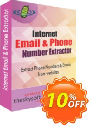 TheSkySoft Internet Email and Phone Number Extractor Coupon, discount 10%Discount. Promotion: wonderful promotions code of Internet Email and Phone Number Extractor 2021