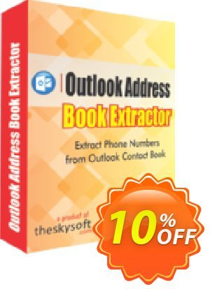 TheSkySoft Outlook Address Book Extractor Coupon, discount 10%Discount. Promotion: awful sales code of Outlook Address Book Extractor 2021