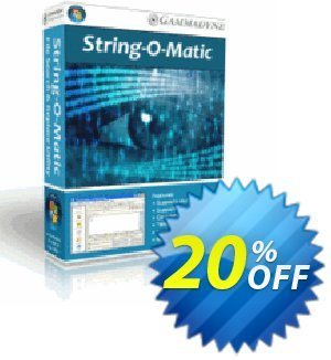 String-O-Matic Coupon, discount String-O-Matic staggering offer code 2020. Promotion: staggering offer code of String-O-Matic 2020