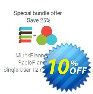 Special offer: MLinkPlanner + RadioPlanner (12 month license) Coupon, discount MLinkPlanner 1.2 Single User 12 month license + RadioPlanner 2.1 Single User 12 month license exclusive promo code 2020. Promotion: exclusive promo code of MLinkPlanner 1.2 Single User 12 month license + RadioPlanner 2.1 Single User 12 month license 2020