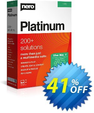 Nero Platinum Suite 7in1 Coupon, discount 30% Support - Subscription Products. Promotion: staggering promotions code of Nero Platinum Suite 2020