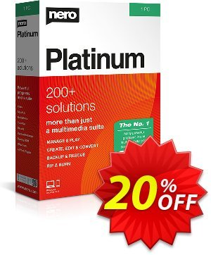 Nero Platinum 2020 Coupon, discount Nero Platinum 2021 exclusive discounts code 2021. Promotion: exclusive discounts code of Nero Platinum 2021 2021