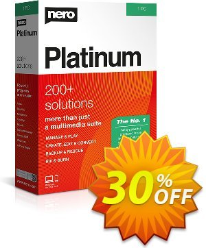 Nero Platinum Suite (Permanent license) Coupon discount 30% Support - Subscription Products - Best promo code of Nero Platinum Suite 2019