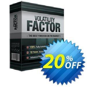 Volatility Factor EA 優惠券,折扣碼 Volatility Factor EA special deals code 2020,促銷代碼: special deals code of Volatility Factor EA 2020