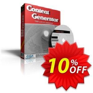 GSA Content Generator Coupon, discount GSA Content Generator big promo code 2020. Promotion: big promo code of GSA Content Generator 2020
