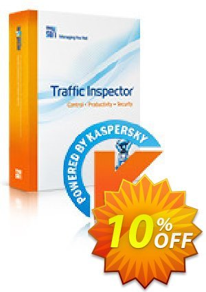 Traffic Inspector + Traffic Inspector Anti-Virus Gold 15 Coupon, discount Traffic Inspector+Traffic Inspector Anti-Virus powered by Kaspersky (1 Year) Gold 15 marvelous offer code 2019. Promotion: marvelous offer code of Traffic Inspector+Traffic Inspector Anti-Virus powered by Kaspersky (1 Year) Gold 15 2019
