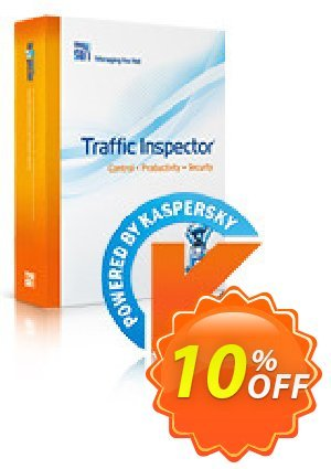 Traffic Inspector + Traffic Inspector Anti-Virus Gold 50 Coupon, discount Traffic Inspector+Traffic Inspector Anti-Virus powered by Kaspersky (1 Year) Gold 50 super sales code 2019. Promotion: super sales code of Traffic Inspector+Traffic Inspector Anti-Virus powered by Kaspersky (1 Year) Gold 50 2019