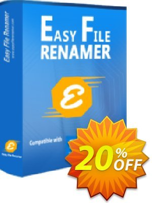 Easy File Renamer Family Pack (1 year) Coupon, discount 20% OFF Easy File Renamer Family Pack (1 year), verified. Promotion: Imposing deals code of Easy File Renamer Family Pack (1 year), tested & approved