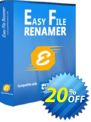Easy File Renamer Family Pack (2 year) Coupon, discount 20% OFF Easy File Renamer Family Pack (2 year), verified. Promotion: Imposing deals code of Easy File Renamer Family Pack (2 year), tested & approved