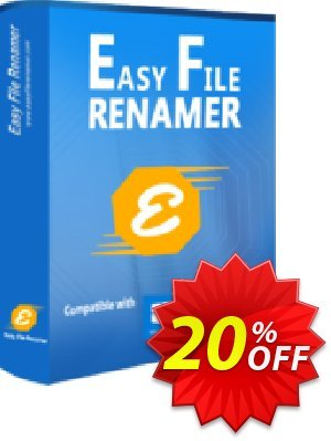 Easy File Renamer (2 year) Coupon, discount 20% OFF Easy File Renamer (2 year), verified. Promotion: Imposing deals code of Easy File Renamer (2 year), tested & approved