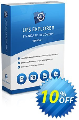 UFS Explorer Standard Recovery Coupon, discount UFS Explorer Standard Recovery for Windows - Personal License (1 year of updates) amazing discounts code 2020. Promotion: amazing discounts code of UFS Explorer Standard Recovery for Windows - Personal License (1 year of updates) 2020