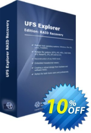 UFS Explorer RAID Recovery (version 5 for Windows) - Personal License Coupon, discount UFS Explorer RAID Recovery (version 5 for Windows) - Personal License best deals code 2020. Promotion: best deals code of UFS Explorer RAID Recovery (version 5 for Windows) - Personal License 2020