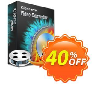CloneDVD Video Converter 1 Year/1 PC Coupon, discount CloneDVD Video Converter 1 Year/1 PC amazing discount code 2021. Promotion: amazing discount code of CloneDVD Video Converter 1 Year/1 PC 2021