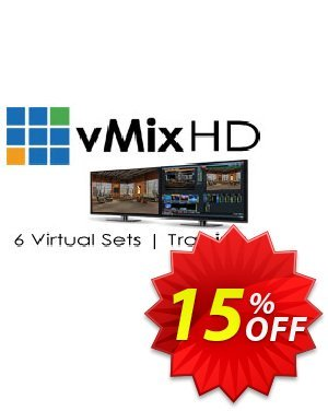 vMix HD + Virtual Set Pack One for vMix Bundle discount coupon 20% OFF vMix HD + Virtual Set Pack One for vMix bundle, verified - Wonderful promotions code of vMix HD + Virtual Set Pack One for vMix bundle, tested & approved