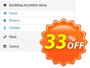 Bootstrap Accordion Menu Extension for WYSIWYG Web Builder Coupon, discount WYSIWYG Web Builder 25% Discount. Promotion: amazing deals code of Bootstrap Accordion Menu Extension for WYSIWYG Web Builder 2020