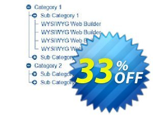 TreeView Menu Extension for WYSIWYG Web Builder Coupon, discount WYSIWYG Web Builder 25% Discount. Promotion: formidable deals code of TreeView Menu Extension for WYSIWYG Web Builder 2020