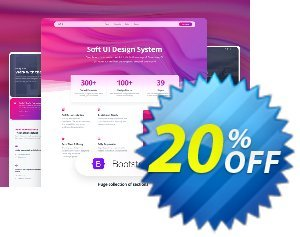 Soft UI Design System PRO Freelancer Lifetime Coupon discount 20% OFF Soft UI Design System PRO Freelancer Lifetime, verified. Promotion: Wondrous promo code of Soft UI Design System PRO Freelancer Lifetime, tested & approved