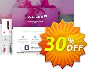 Material Kit PRO - Bootstrap 3 優惠券,折扣碼 Material Kit PRO - Bootstrap 3 awful sales code 2019,促銷代碼: awful sales code of Material Kit PRO - Bootstrap 3 2019