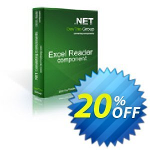 Excel Reader .NET - 4 Developer Licenses Coupon discount Excel Reader .NET - 4 Developer Licenses excellent offer code 2019 - excellent offer code of Excel Reader .NET - 4 Developer Licenses 2019