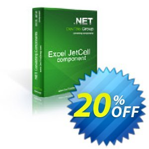 Excel Jetcell .NET - Site License discount coupon Excel Jetcell .NET - Site License awesome sales code 2020 - awesome sales code of Excel Jetcell .NET - Site License 2020