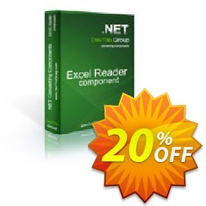 Excel Reader .NET - Site License 프로모션 코드 Excel Reader .NET - Site License imposing discounts code 2020 프로모션: imposing discounts code of Excel Reader .NET - Site License 2020