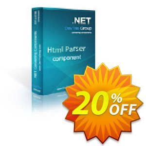 Html Parser .NET - Site License 優惠券,折扣碼 Html Parser .NET - Site License impressive offer code 2019,促銷代碼: impressive offer code of Html Parser .NET - Site License 2019