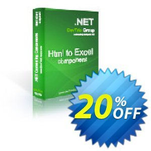 Html To Excel .NET - Developer License PRO Coupon, discount Html To Excel .NET - Developer License PRO staggering deals code 2019. Promotion: staggering deals code of Html To Excel .NET - Developer License PRO 2019