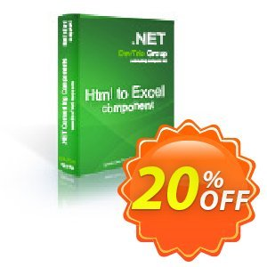 Html To Excel .NET - Update Coupon, discount Html To Excel .NET - Update hottest discount code 2019. Promotion: hottest discount code of Html To Excel .NET - Update 2019