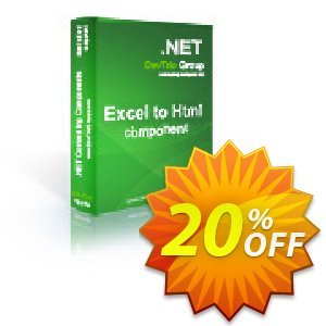 Excel To Html .NET - Developer License LITE discount coupon Excel To Html .NET - Developer License LITE amazing deals code 2020 - amazing deals code of Excel To Html .NET - Developer License LITE 2020