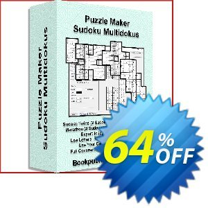 Puzzle Maker Sudoku Multidokus discount coupon Puzzle Maker Pro Sudoku Multidokus excellent offer code 2020 - dreaded deals code of Puzzle Maker Pro Sudoku Multidokus 2020