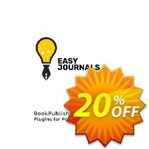 Easy Journals Pro Coupon, discount Easy Journals Pro (Plugin for Powerpoint) Stunning discount code 2021. Promotion: Stunning discount code of Easy Journals Pro (Plugin for Powerpoint) 2021