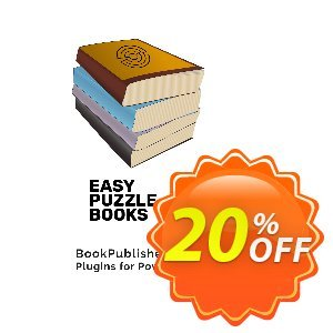Easy Puzzle Books Coupon, discount Easy Puzzle Books (Plugin for Powerpoint) Wondrous sales code 2021. Promotion: Wondrous sales code of Easy Puzzle Books (Plugin for Powerpoint) 2021