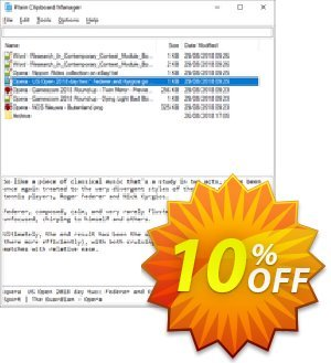 Plain Clipboard Manager Coupon discount Plain Clipboard Manager stirring promo code 2021