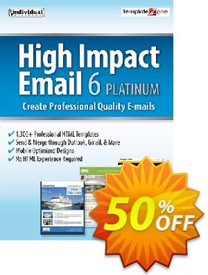 High Impact Email 6 Platinum 優惠券,折扣碼 40% OFF High Impact Email 6 Platinum, verified,促銷代碼: Amazing promo code of High Impact Email 6 Platinum, tested & approved