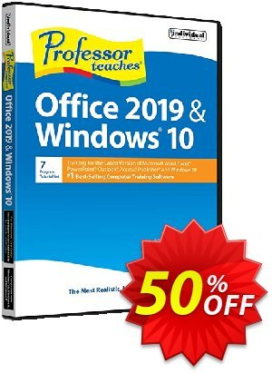 Professor Teaches Office 2019 & Windows 10 discount coupon COMPUTER - exclusive promo code of Professor Teaches® Office 2020 & Windows® 10 2020
