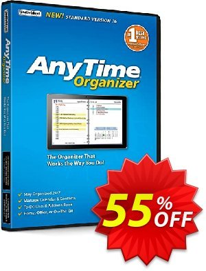AnyTime Organizer Coupon, discount Save 40% in the New Year!. Promotion: awful promotions code of AnyTime® Organizer Standard 16 2020