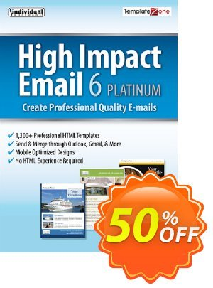 High Impact Email 6 Platinum discount coupon 30% OFF High Impact Email 6 Platinum, verified - Amazing promo code of High Impact Email 6 Platinum, tested & approved
