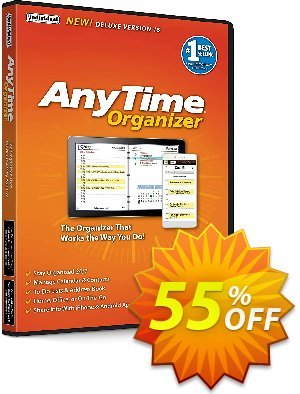AnyTime Organizer Deluxe 16 Coupon, discount ATHOME: Save 40% on AnyTime Organizer. Promotion: fearsome discount code of AnyTime Organizer Deluxe 16 2020